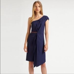 Sachin + Babi Navy One Shoulder Dress - Sz 4